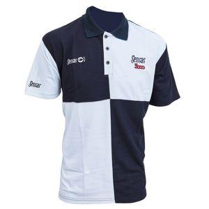 Tricou Sensas Harlequin Navy & Light Blue Polo