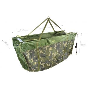 Sac Cantarire Carp Academy Grizzly Camou Cu Plutitor 135x40x80