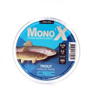 Monofilament  C-Tec X Trout Clear 500m 0.24