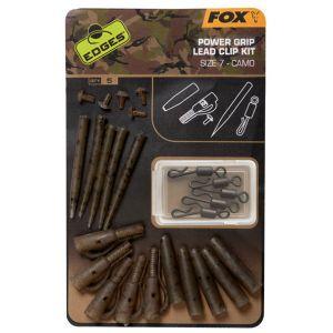 Kit Monturi Fox Edges Power Grip Lead Clip Camo, 5x5Buc/Set Nr.7