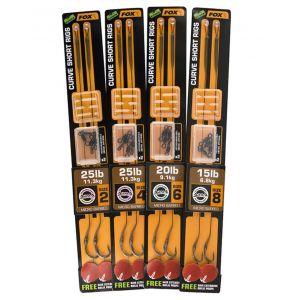 Montura Fox Edges Curve Short Ready Rig Barbed Gravelly Brown 25lbs 2buc/plic