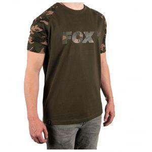 Tricou Fox Camo/Khaki Chest Print T-Shirt XXXL
