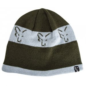 Caciula Fox Green And Silver Beanie